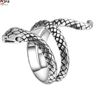 Jewelry - Silver Wrap Coil Snake Serpent Ring B25